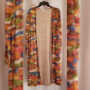 LulaRoe Multi-color floral duster sz L